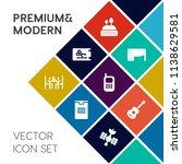 modern  simple vector icon set... | Shutterstock .eps vector #1138629581