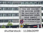 berlin   jun 14  checkpoint... | Shutterstock . vector #113863099