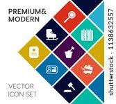 modern  simple vector icon set... | Shutterstock .eps vector #1138632557