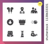 modern  simple vector icon set... | Shutterstock .eps vector #1138633331