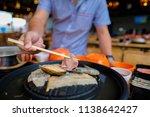 selective focus grill korean... | Shutterstock . vector #1138642427