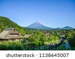 fuji mountain and historic... | Shutterstock . vector #1138645007