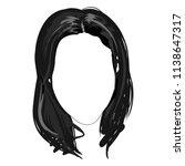 monochrome female long brunette ... | Shutterstock .eps vector #1138647317