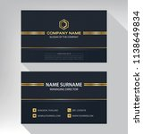 business model name card luxury ... | Shutterstock .eps vector #1138649834
