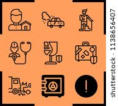 simple icon set of insurance... | Shutterstock .eps vector #1138656407