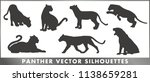 panther vector silhouettes | Shutterstock .eps vector #1138659281