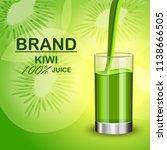 kiwi juice in glass concept... | Shutterstock .eps vector #1138666505