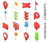 map pointer pin arrow compass... | Shutterstock .eps vector #1138666571
