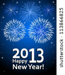 Happy New Year 2013   Vector...
