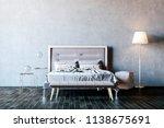 3d render of beautiful bedroom... | Shutterstock . vector #1138675691