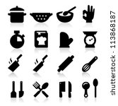 cooking icons | Shutterstock .eps vector #113868187