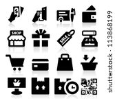 shopping icons | Shutterstock .eps vector #113868199