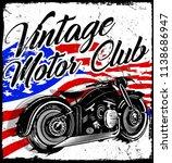 photo print vintage motorcycle... | Shutterstock . vector #1138686947