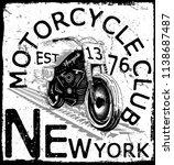 photo print vintage motorcycle... | Shutterstock . vector #1138687487