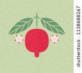 pomegranate illustration.... | Shutterstock .eps vector #1138688267