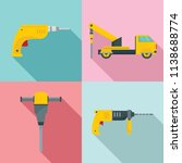 drilling machine rig electric...   Shutterstock .eps vector #1138688774