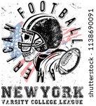photo print football sport... | Shutterstock . vector #1138690091