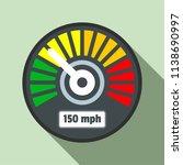 colorful speedometer icon. flat ...
