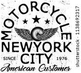 photo print vintage motorcycle... | Shutterstock . vector #1138692317