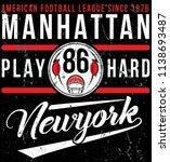 photo print american football... | Shutterstock . vector #1138693487