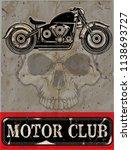photo print vintage motorcycle... | Shutterstock . vector #1138693727