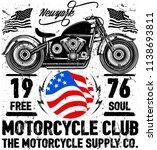 photo print vintage motorcycle... | Shutterstock . vector #1138693811