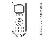 remote control conditioner icon.... | Shutterstock .eps vector #1138699304