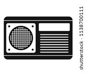 conditioner fan icon. simple... | Shutterstock .eps vector #1138700111