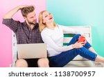 couple in love relaxing surfing ... | Shutterstock . vector #1138700957