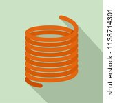 flexible cable icon. flat... | Shutterstock .eps vector #1138714301