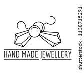 hand made jewellery logo....   Shutterstock .eps vector #1138715291