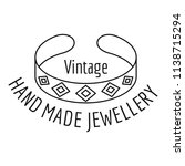 vintage hand made jewelery logo.... | Shutterstock .eps vector #1138715294