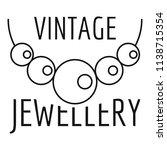 vintage pearls jewellery logo....   Shutterstock .eps vector #1138715354