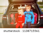 happy little boy and girl... | Shutterstock . vector #1138715561