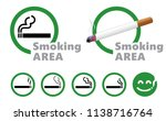 designated smoking area zone... | Shutterstock .eps vector #1138716764
