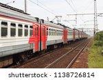 russian electric train in summer | Shutterstock . vector #1138726814