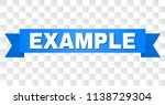example text on a ribbon.... | Shutterstock .eps vector #1138729304
