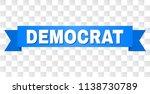 democrat text on a ribbon....   Shutterstock .eps vector #1138730789