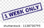 1 week only stamp seal print... | Shutterstock .eps vector #1138730795