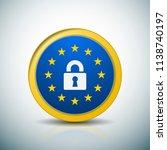 eu gdpr label illustration | Shutterstock .eps vector #1138740197