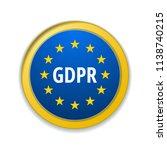 eu gdpr label illustration | Shutterstock .eps vector #1138740215