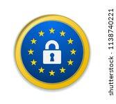 eu gdpr label illustration | Shutterstock .eps vector #1138740221