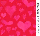 watercolor hearts. valentine...   Shutterstock . vector #1138742804