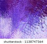 contemporary art. hand made art.... | Shutterstock . vector #1138747364