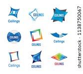 logos of ceilings  floors | Shutterstock .eps vector #1138750067