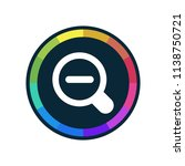 zoom out   app icon | Shutterstock .eps vector #1138750721