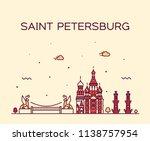 saint petersburg skyline ... | Shutterstock .eps vector #1138757954