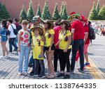 moscow   june 15  2018  soccer... | Shutterstock . vector #1138764335