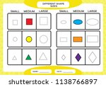 different shape sizes. small ... | Shutterstock .eps vector #1138766897