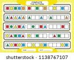 complete simple repeating... | Shutterstock .eps vector #1138767107